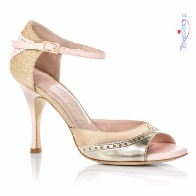 buty tango bandolera złote