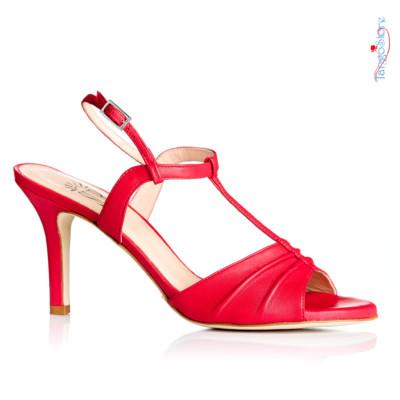 buty do tanga czerwone skórzane do tańca