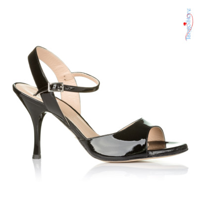 buty tango czarne lakierki