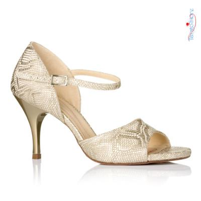 buty do tanga złote jasne błyszczące