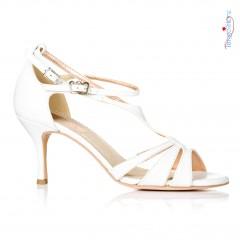 buty tango ślub białe skóra paski włoskie Regina